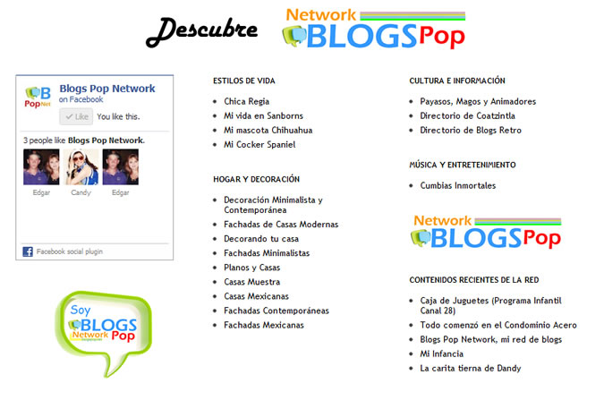 Descubre Blogs Pop Network